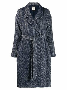 Semicouture herringbone coat - Blue