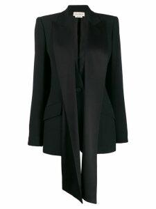 Alexander McQueen silk ribbon embellished blazer - Black