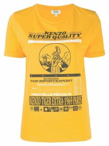 Kenzo graphic print T-shirt - Yellow