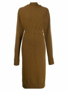 Erika Cavallini backless dress - Brown