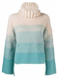 Fendi gradient roll neck jumper - Blue
