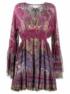 Camilla printed flared sleeve dress - Pink