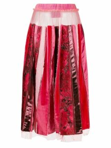 Victor & Rolf recycled pleated skirt - Red