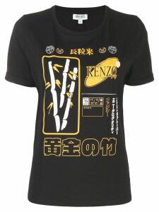 Kenzo graphic print T-shirt - Black