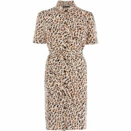 Karen Millen Leopard-Print Shirt Dress