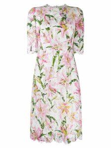 Dolce & Gabbana short floral dress - White