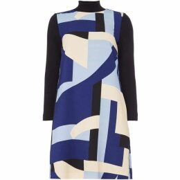 Marella Contrast high collar dress