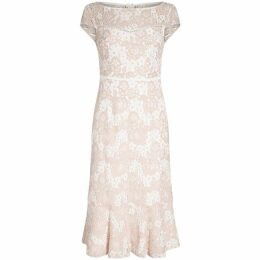 Adrianna Papell Emily Lace Flounce Sheath Dress