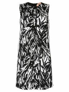 Nº21 zebra patterned short dress - Black