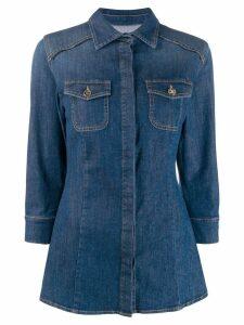 Elisabetta Franchi fitted denim shirt - Blue