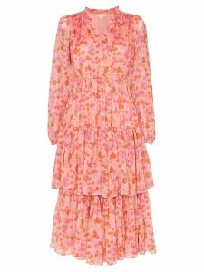 byTiMo floral tiered midi dress - Pink