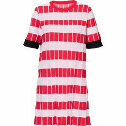 Carolina Cavour Knitted Striped Crinkle Dress