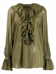 Etro ruffled blouse - Green