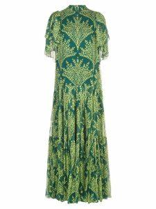 Carolina Herrera floral print silk dress - Green