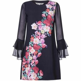 Yumi Foral WaterColour Tunic dress