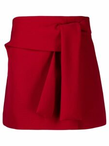 P.A.R.O.S.H. tie knot detail skirt - Red