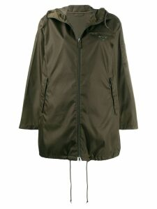 Prada zipped hooded parka - Green