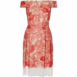 Gina Bacconi Kira Embrodered Mesh Dress
