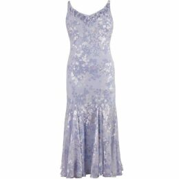 Chesca Lilac Devoree Applique Bead Trim Dress
