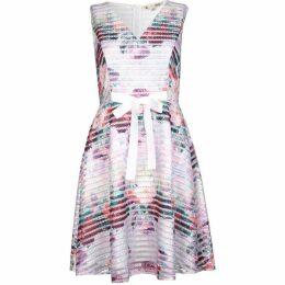 Yumi Watercolour Rose Fishnet Dress