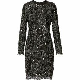 Gina Bacconi Marzena Sequin Swirl Dress