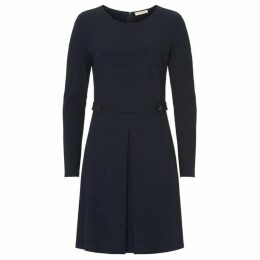 Vera Mont Box pleat jersey dress