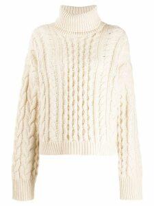Alanui cable knit jumper - White