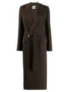 Bottega Veneta double breasted belted coat - Brown