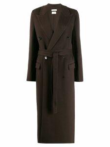 Bottega Veneta double breasted belted coat - Brown