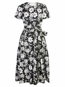 Carolina Herrera belted floral print dress - Black