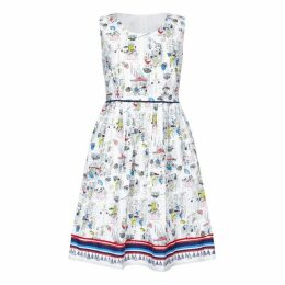 Yumi Tapas Print Skater Dress