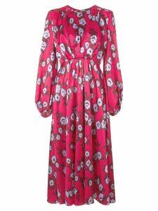 Carolina Herrera floral print long dress - Pink