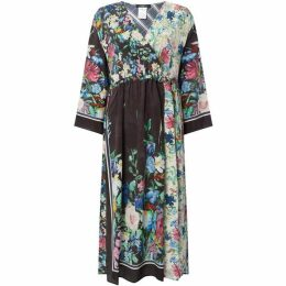 Max Mara Weekend V neck floral wrap dress