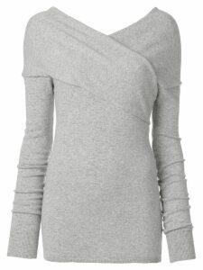 Emilio Pucci cross front jumper - Grey