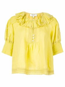 Sea ruffled neck blouse - Yellow