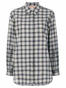 Nº21 beaded checked shirt - Grey