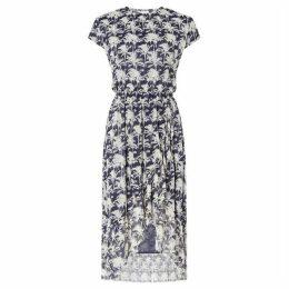 Samsoe and Samsoe Sleeveless dress with palm print