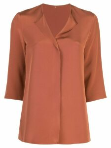 Peter Cohen 3/4 length sleeve blouse - Brown