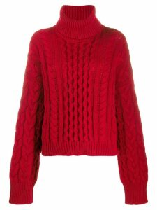 Alanui roll-neck fitted sweater - Red
