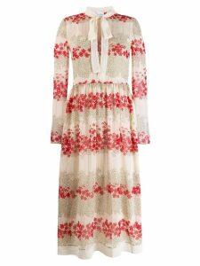 Red Valentino floral print shirt dress - NEUTRALS