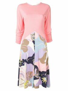 Emilio Pucci Mirabilis Print Midi Dress - PINK