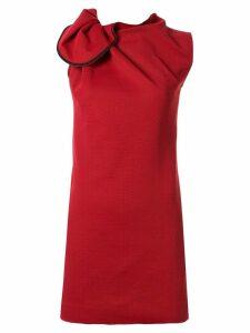 Maticevski Posie gathered neckline dress