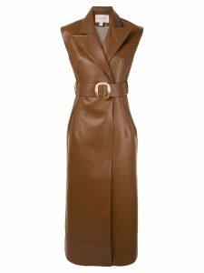 Matériel belted longline vest - Brown