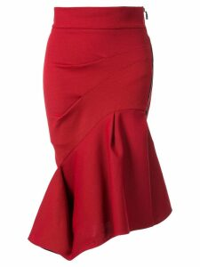 Maticevski Quill Flirt asymmetric skirt - Red
