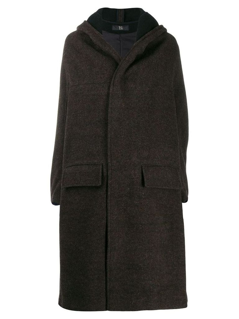 Y's hooded coat - Brown