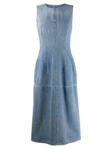 Mm6 Maison Margiela denim midi dress - Blue