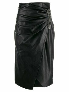 Pinko embellished wrap pencil skirt - Black