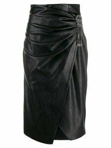 Pinko embellished wrap pencil skirt - Black