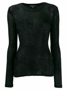 James Perse fine knit sweater - Black