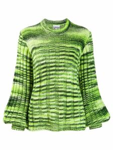 Ganni ribbed oversized sweater - Green